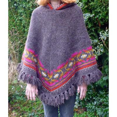 Bilde 3 fra Karen for Sherpa - Women's Samchi Poncho - Ulljakke