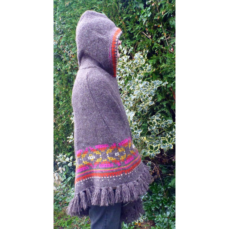 Bilde 5 fra Karen for Sherpa - Women's Samchi Poncho - Ulljakke