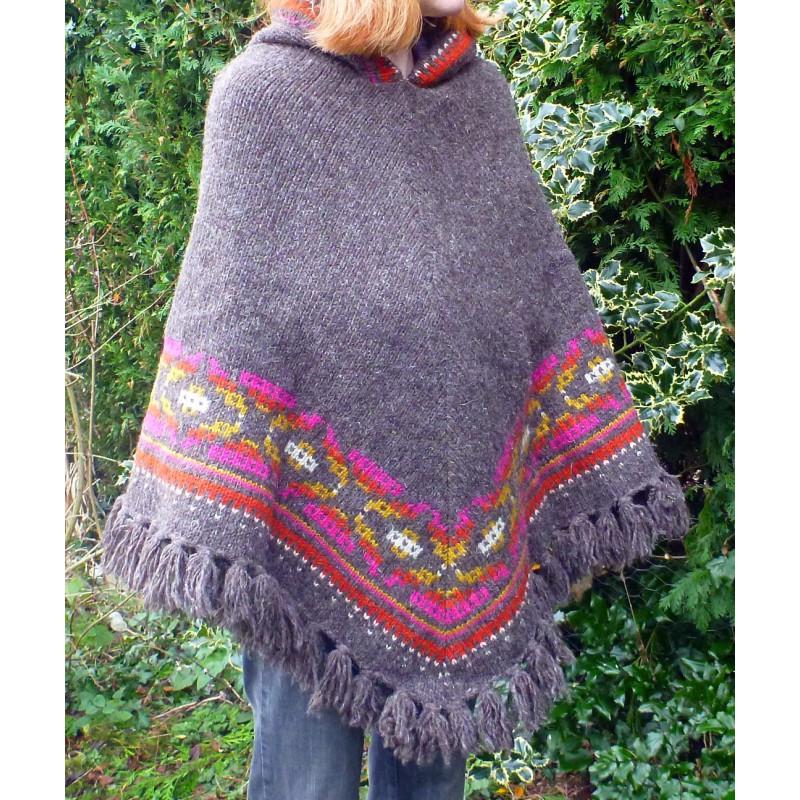 Bilde 1 fra Karen for Sherpa - Women's Samchi Poncho - Ulljakke