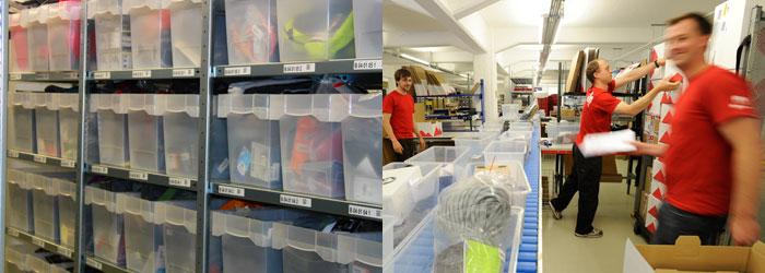 Vi lagerfører over 25000 varer, på travle dager behandler vi over 1600 bestillinger