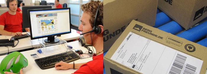 Vi er her for å hjelpe deg! Vår kundeservice veileder deg - mens logistikken sørger for rask levering.